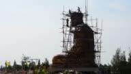 Under construction of Buddha image video