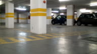 Underground parking lot video