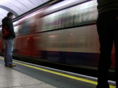 Underground subway - tube station, timelapse (PAL, NTSC) video