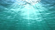 Underwater and ocean surface, loopable first & last 9 secs. video
