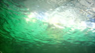 underwater and reflection from the sun sparkling. video