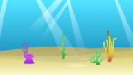 Underwater Cartoon Animation Background video