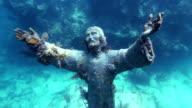 Underwater Christ Statue video