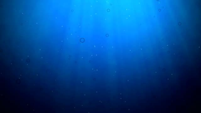 Underwater Scene, Computer Generated, Loops seamless video