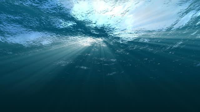 Underwater Sea Surface Looping video