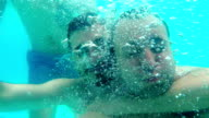 Underwater selfie video