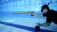 Underwater target shooting video