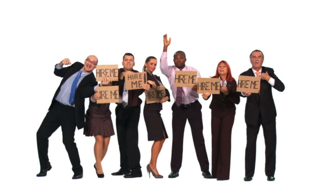 HD: Unemployed Business People video