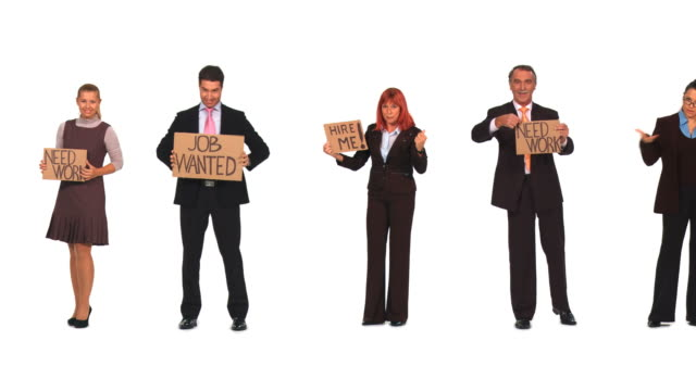 HD LOOP MONTAGE: Unemployed Business People video