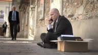HD DOLLY: Unemployed Businessman On The Phone video