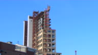 HD Unfinished High Rise Building ZoomIn_1 (1080/24P) video