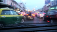 Unfocused blured of Vehicles Stuck In The Traffic video