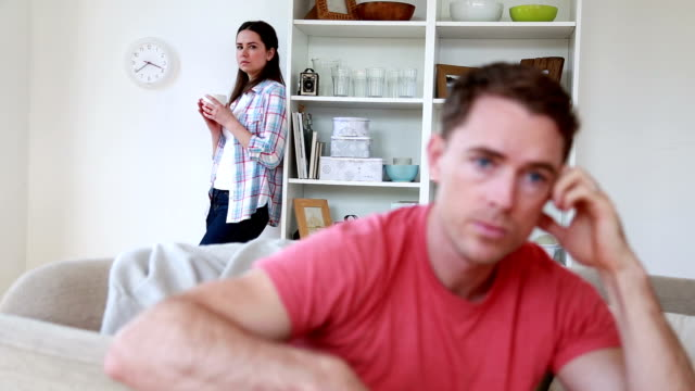 Unhappy Couple At Home video