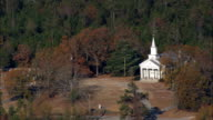 Union Cemetery And Chapel  - Aerial View - South Carolina,  Fairfield County,  United States video