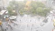 union square autumn rain | timelapse video