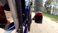 A unique point of shooting a bicycle. video