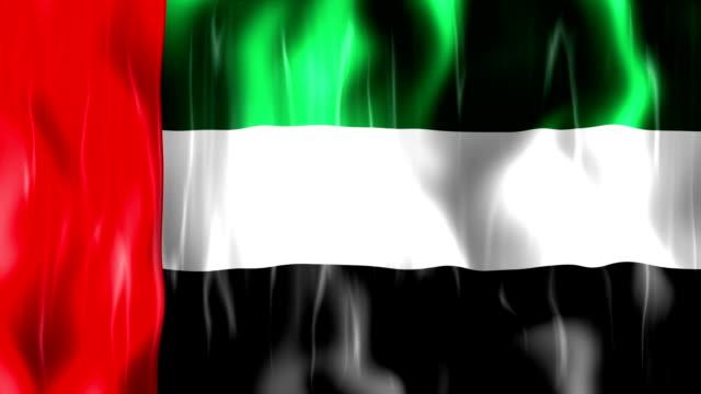 United Arab Emirates Flag Animation video