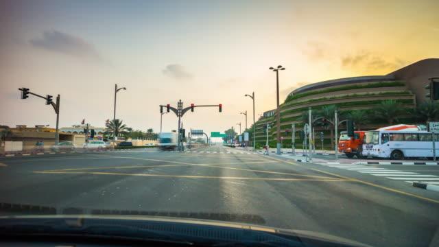 united arab emirates sunset dubai abu dhabi road trip car panorama 4k time lapse video
