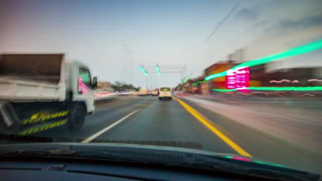 united arab emirates sunset sky dubai city al wasl road trip panorama 4k time lapse video