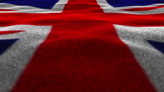 United Kingdom Flag, Textile Carpet Background, Still Camera, Loop, 4k video