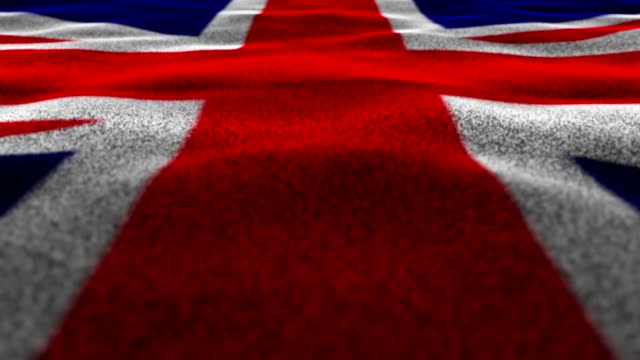 United Kingdom Flag, Textile Carpet Background, Still Camera, Loop video