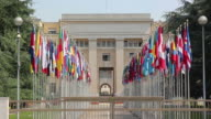 United nations in Geneva, Flags - HD & PAL video
