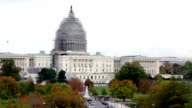 United States Capitol and Pennsylvania Avenue Zoom Out video