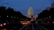 United States Capitol building at dusk, Washington DC video