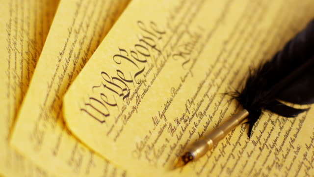 United States Constitution and feather pen video