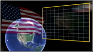 United States flag and map animation video