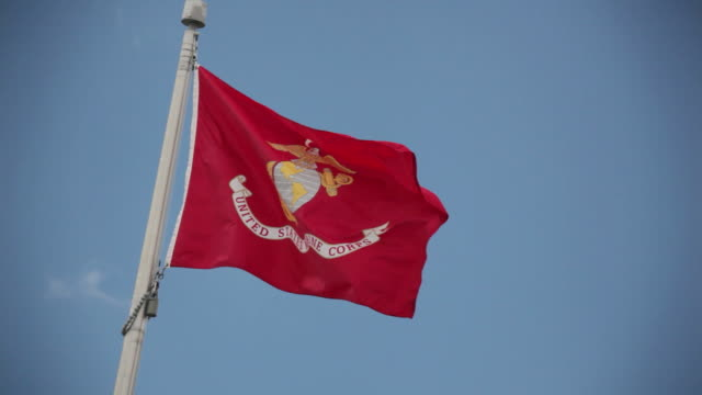 United States Marine Corps Flag video