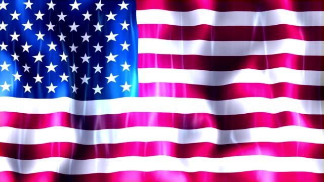 United States of America Flag Animation video