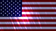 United States of America Flag Loopable Animation video