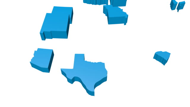 3D USA/ United States of America map video