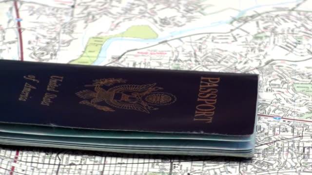 United States passport loop - HD video