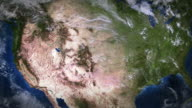 United States seen from space. video