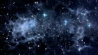 Universe background with stars and interstellar gases video