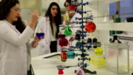 University Chemistry Laboratory Research Students Working in Class Together video