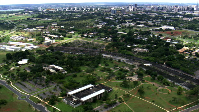 University Of Brasilia  - Aerial View - Federal District, Brasília, Brazil video