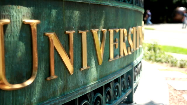 University Sign Closeup video