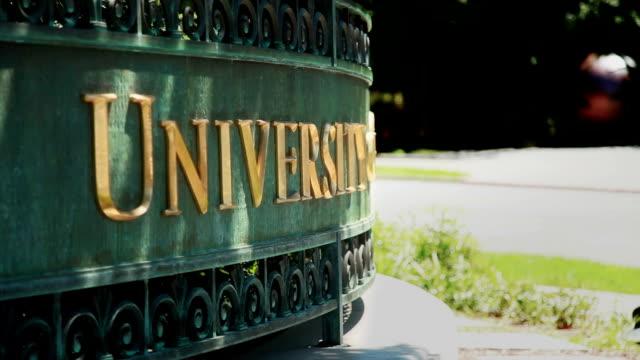 University Sign Zoom video