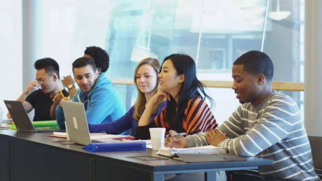 University Students using computer lab video
