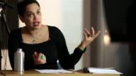 University tutor addressing class video