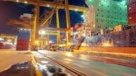 Unloading Cargo Container video