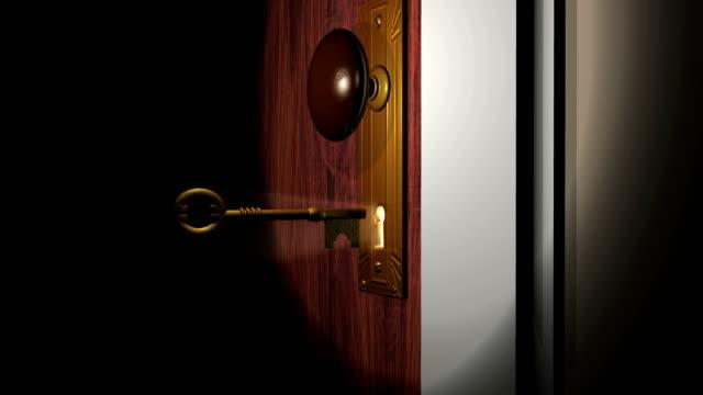Unlocking Door and Opening then Closing video