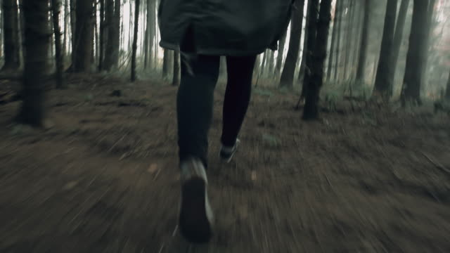 POV Unrecognizable woman running for her life video