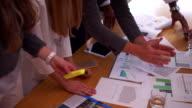 Unrecognizable young creative team having a progress meeting. video