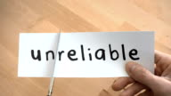 Unreliable To Reliable By Scissors video