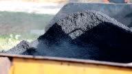 Unrolled hot asphalt video