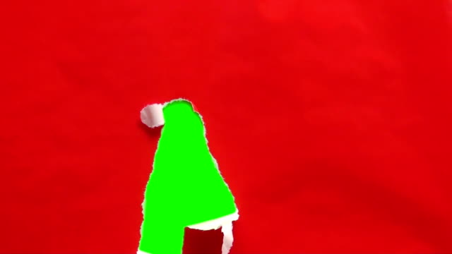 Unwrapping gift green screen V2 - HD video